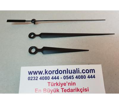 Akrep 6,7 cm Yelkovan 10 cm Metal Siyah 100 Adet