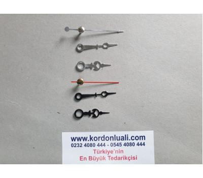 Akrep 3.3 cm Yelkovan 4 cm Metal Siyah Veya Gümüş