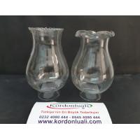 Gaz Lamba Camı No 14 Ağız Çapı 5 cm Klasik Lambaya Uyumlu