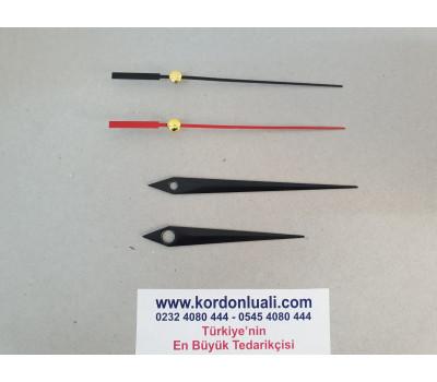 Akrep 7 cm Yelkovan 9,3 cm Metal Siyah 100 Adet