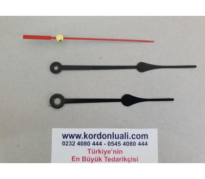 Akrep 10 cm Yelkovan 12 cm Metal Siyah