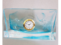 Şurup Masa Saati Mavi Rengi Cam Koleksiyonluk