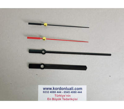Akrep 10 cm Yelkovan 14,5 cm Metal Siyah 100 Adet