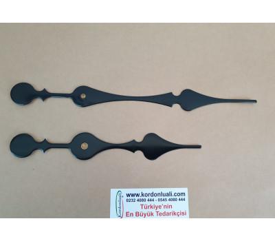 Akrep 18.5 cm Yelkovan 25 cm Metal Siyah 100 Adet
