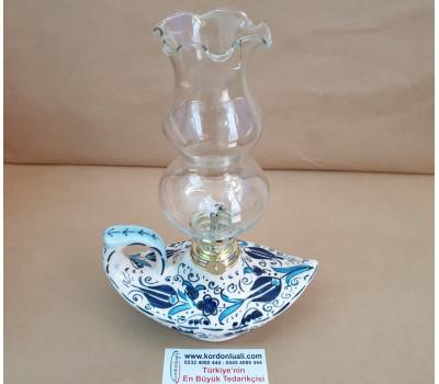 Alaaddin Gaz Lambası 22,5 cm Özel Camlı